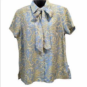 Liz Claiborne 100% silk blouse medium